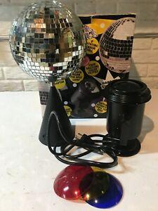 "Vintage 8"" Mirror Disco Ball DJ Stage Party Light w/ Rotating Motor & Spotlight"