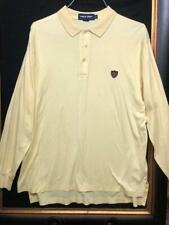 Mens  Vintage Ralph Lauren Polo Soft Knit Golf Long Sleeve Shirt Large Yellow