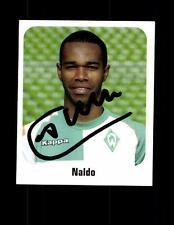 Naldo Werder Bremen Panini Sammelbild 2006-07 Original Sig+ A 144098
