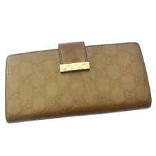 Gucci Wallet Purse Long Wallet Guccissima Gold Gold Woman Authentic Used E734