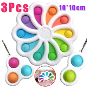 3X Simple Dimple Sensory Fidget Toy Tactile Brain Stress Relief Digital Learning
