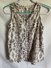 aff1f093e20 NWT Maurices Sleeveless Blouse Floral Top Zipper Size XS
