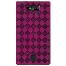 AMZER HOT PINK LUXE ARGYLE TPU SOFT GEL SKIN CASE COVER FIT FOR MOTOROLA TRIUMPH