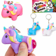 POO POO UNICORN TOY KEY CHAIN KEYRING BOYS GIRLS BIRTHDAY PARTY BAG FILLER GIFT