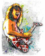 "Eddie Van Halen #1 1984 5150 Rock Guitar 11x14"" Music Art Print Poster Gift"