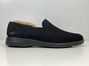 Skechers Walson Mens Black Knit Mesh Slip On Casual Shoe UK Size 11