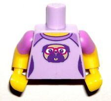 LEGO BABYSITTER TORSO Female Lavender Purple Pug Dog Short Sleeve NEW