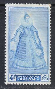 Belgium 1949 MLH Mi 833 Sc B465 Isabella of Austria *