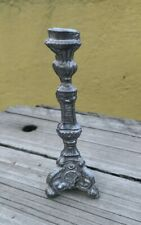 ANTIQUE OLD VTG DOLLHOUSE MINIATURE METAL PEWTER? CANDLESTICK ALTAR OR CHAPEL