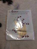 VINTAGE Aristoc Run Proof 20 Denier Seamfree Stockings Sandalfoot Allure 8.5 - 9