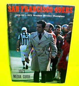 Vtg 1973 NFL Football SAN FRANCISCO 49ER'S Official Press Media Guide Book NM