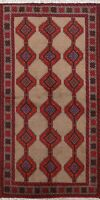 Geometric Tribal Balouch Area Rug Hand-Knotted Oriental Home Decor Carpet 3'x6'