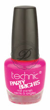 Technic Nail Polish - Flamingo Bright Neon Pink Varnish Glossy Shiny Nails Toes