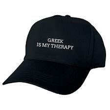 Griego es mi terapia Negro Gorra De Béisbol Sombrero gracioso