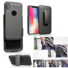 Hybrid Rugged Protector Belt Clip KickStand Hard Holster Case for Apple iPhone X