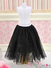 ☆╮Cool Cat╭☆280.【PS-04】Blythe Pullip Long Tulle Ball Skirt (Dot) # Black
