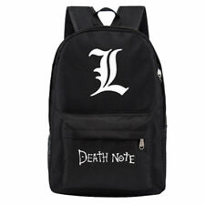 """L"" Death Note Manga/Anime Canvas School Bag Zipper Student Backpack Rucksack"