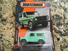 2018 Matchbox Off Road Land Rover 90 Light Green #118/125