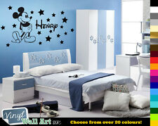 Personalised Mickey Mouse Boys Name + Stars Disney Vinyl Wall Art Sticker Decal