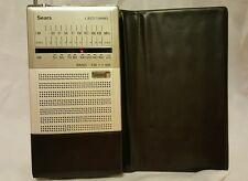 Vintage Sears LED AM/FM LXI Portable Radio *SUPER RARE!! w/orig Case* Model 2414