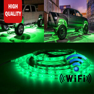 New Arrival APP Control LED Strip Car Underglow Underbody Neon Lights 16FT Kit