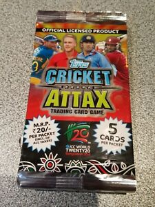Topps Cricket Attax ICC WT20 2014 Packs x10