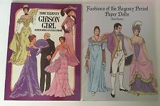 Tom Tierney Gibson Girl 1985 & fashions of Regency Period 1996 Paper Dolls Uncut
