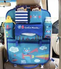 Blue car back seat organiser kids Toy,bottle holder, baby organising travel bag