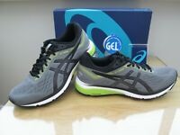 ASICS GEL GT-1000 7 MENS CARBON BLACK LIME RUNNING TRAINERS SIZE UK 10.5 EURO 46
