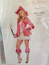 Pink Pirate Womens Halloween Costume Adult Size S/M