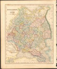 1840 ca ANTIQUE MAP - RUSSIA IN EUROPE AND POLAND