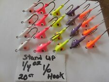 Custom 1/4 Oz Stand Up Jig Heads Eagle Claw Hooks! 20 Ct