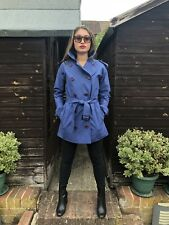 Women's Vintage Burberrys Double Breasted Trench Coat In Blue - Size UK 8/10