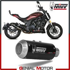 Mivv Exhaust Muffler MK3 Black Inox black kat for BENELLI 502C 2019 > 2020