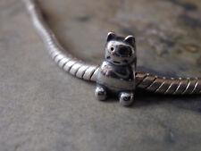 Edelstahl Bead Element Haustier Katze Cat Farbe Silber für Armband 1669