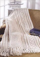 Crochet Pattern ~ FISHERMAN'S BLANKET Afghan ~ Instructions