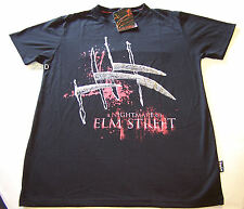 A Nightmare On Elm Street Mens Black Printed T Shirt Size XS New