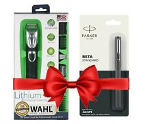 Original Wahl Lithium Ion All in One Grooming Kit Trimmer For US Free Parker Pen