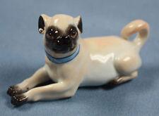 Mops porzellan figur hund figur Meissen  porzellanmops pug porzellanfigur