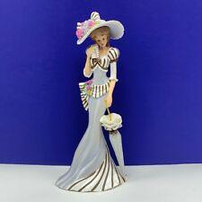 Thomas Kinkade ladies lamplight village figurine RARE sculpture Love Letters hat
