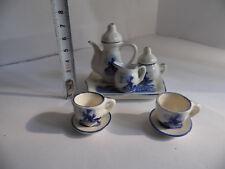Delft - Dinette service à café miniature parfait état service 10 pièces