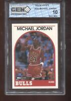 Michael Jordan 1989-90 Hoops #200 Chicago Bulls HOF GEM MINT 10