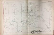 1888 PHILADELPHIA BUSTLETON LAGRANGE & VERREEVILLE PA. COPY PLAT ATLAS MAP