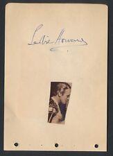 1930's LESLIE HOWARD Vintage Hollywood Star Signed Album Page GWTW
