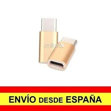 Adaptador Micro USB Hembra USB 3.1 Tipo C Macho Conector Conversor Dorado a2982