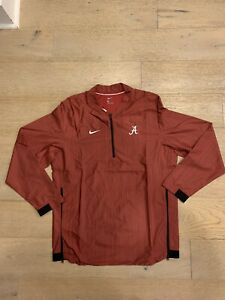 Nike Univ. Of Alabama Crimson Tide L/S Lockdown 1/4 Zip Jacket Men's Large