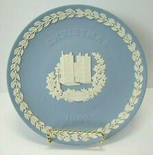 Wedgwood 1982 Christmas Plate - Pale Blue and White Jasperware - Lambeth Palace