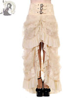 DANCING DAYS by BANNED VICTORIAN LACE steampunk GOTHIC goth LONG SKIRT OFF-WHITE