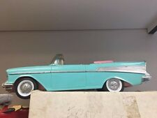 Vintage Mattel Turquoise Pink '57 Chevy Bel Air Convertible Car For Barbie #3561