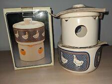 More details for vintage 1986 stoneware potpourri room scenter - burner / warmer - candle holder